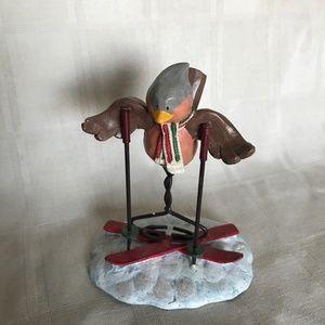 """Russ Berrie Bird Figurine """"Cardinal Cousin"""""""